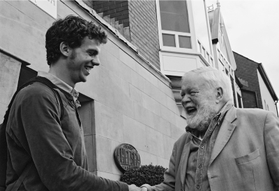 Author and Michael Longley © Scott Rodd