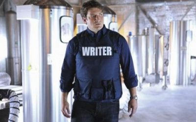 Writer in a Bulletproof Vest by Iris Graville